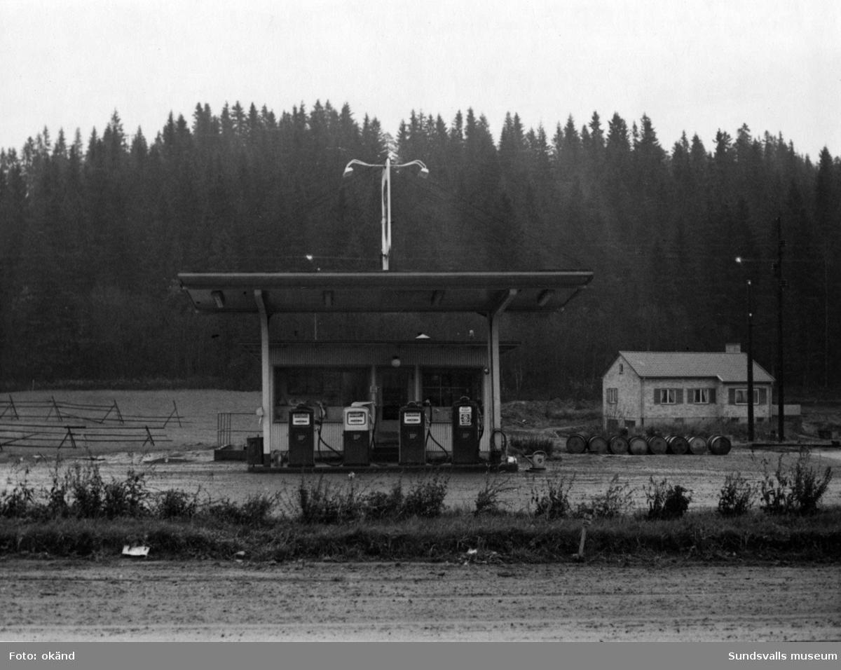 BP-stationen Skönsberg, Sundsvall, riksv. Köpman: Gunnar Burestad.