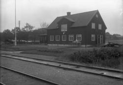 Vy från Lindome station.