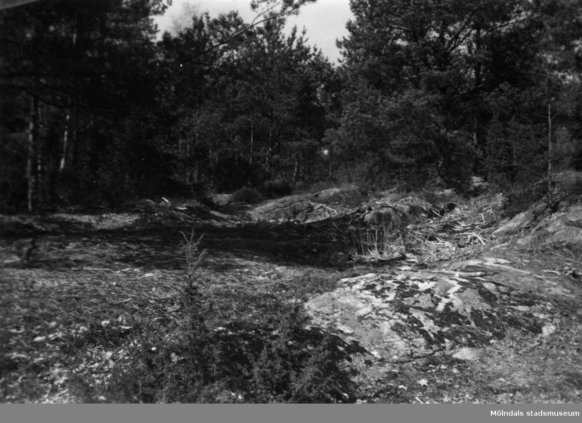Kalvhagen. Nuvarande plats för isbanan i Stretered, Kållered.