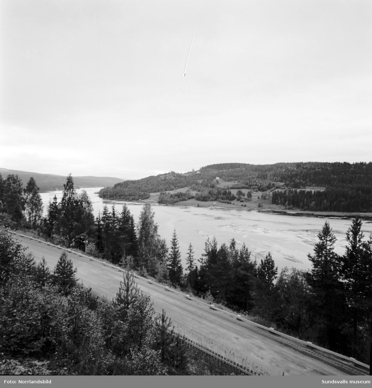 Ragunda, utsikt från Skogskyrkogården.