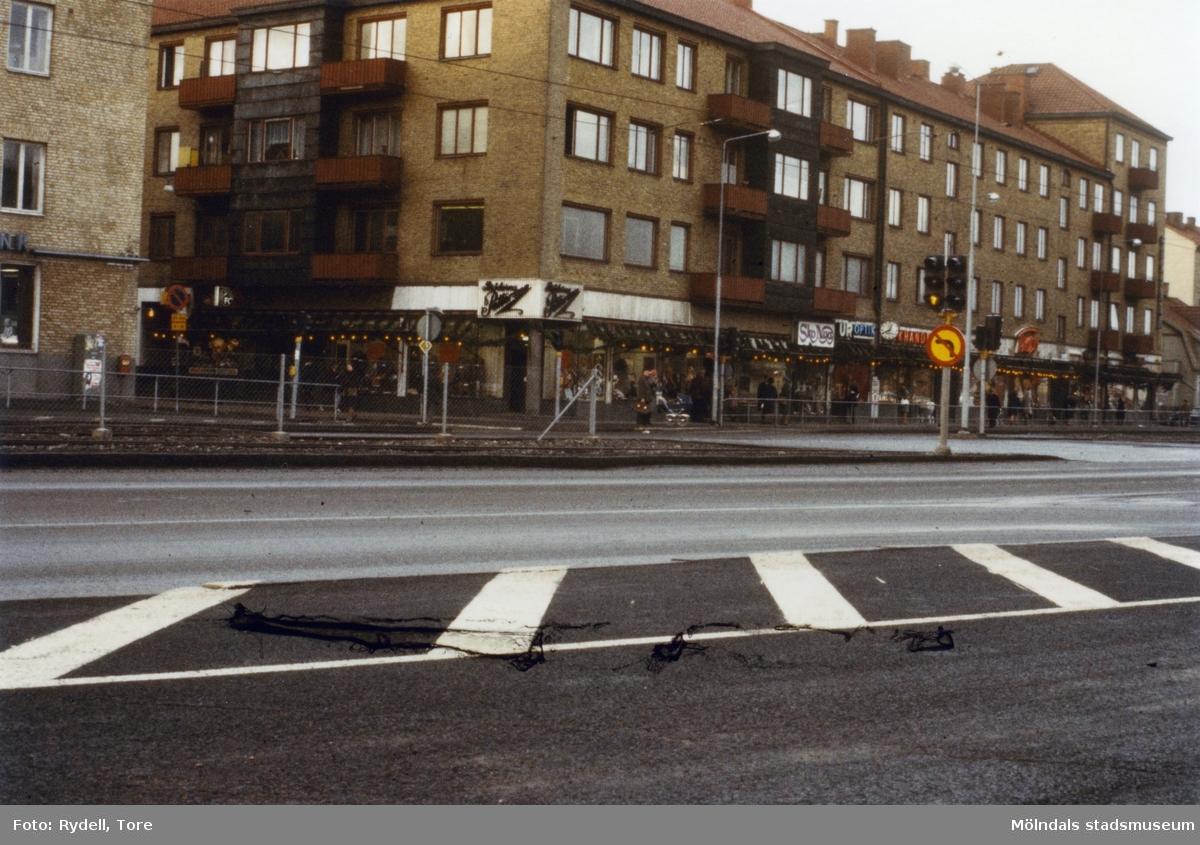 Centrumhuset eller Frändbergska huset på Göteborgsvägen 1-5 i Mölndal, 1970-tal.