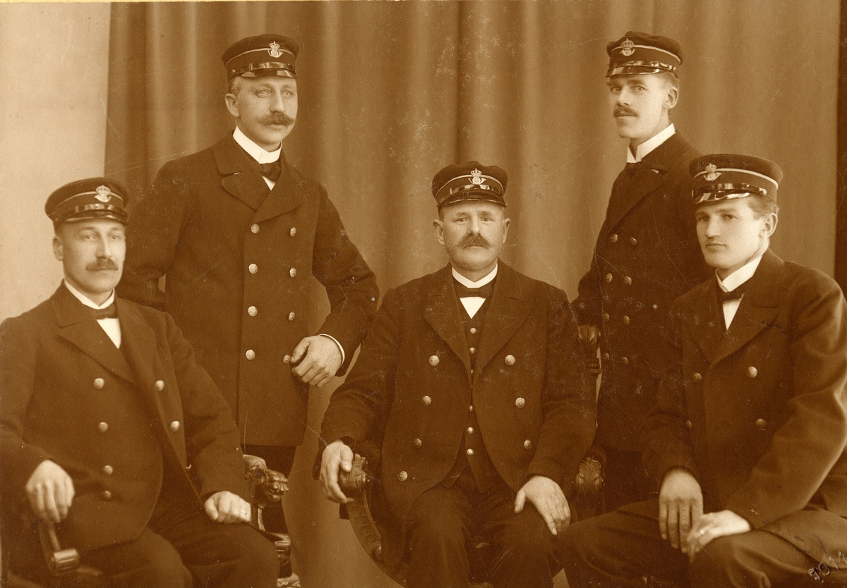 Brevbärare vid postkontoret i Karlshamn, 1914.