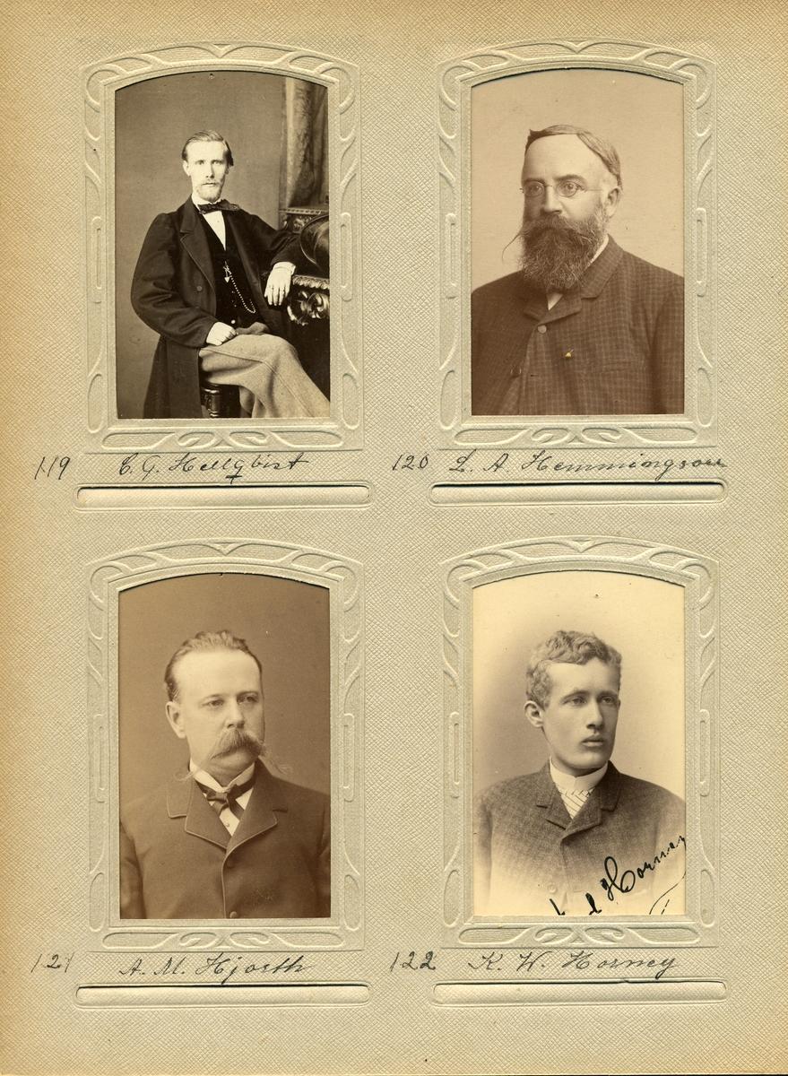 Porträtt av Lars August Hemmingson, postmästare i Klippan 1882-1900.