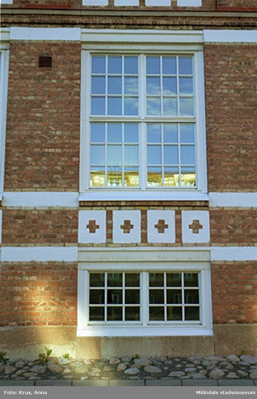Kängurun 18 - Krokslätts fabriker f.d. Väveriet från öster, detalj på fönster.