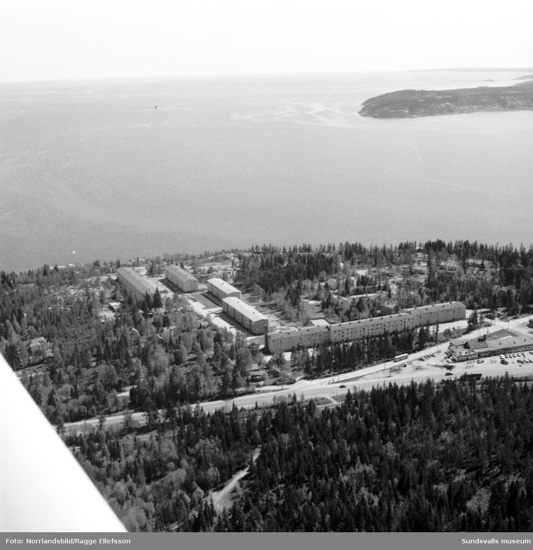 Flygfoton över det nya bostadsområdet i Bredsand.