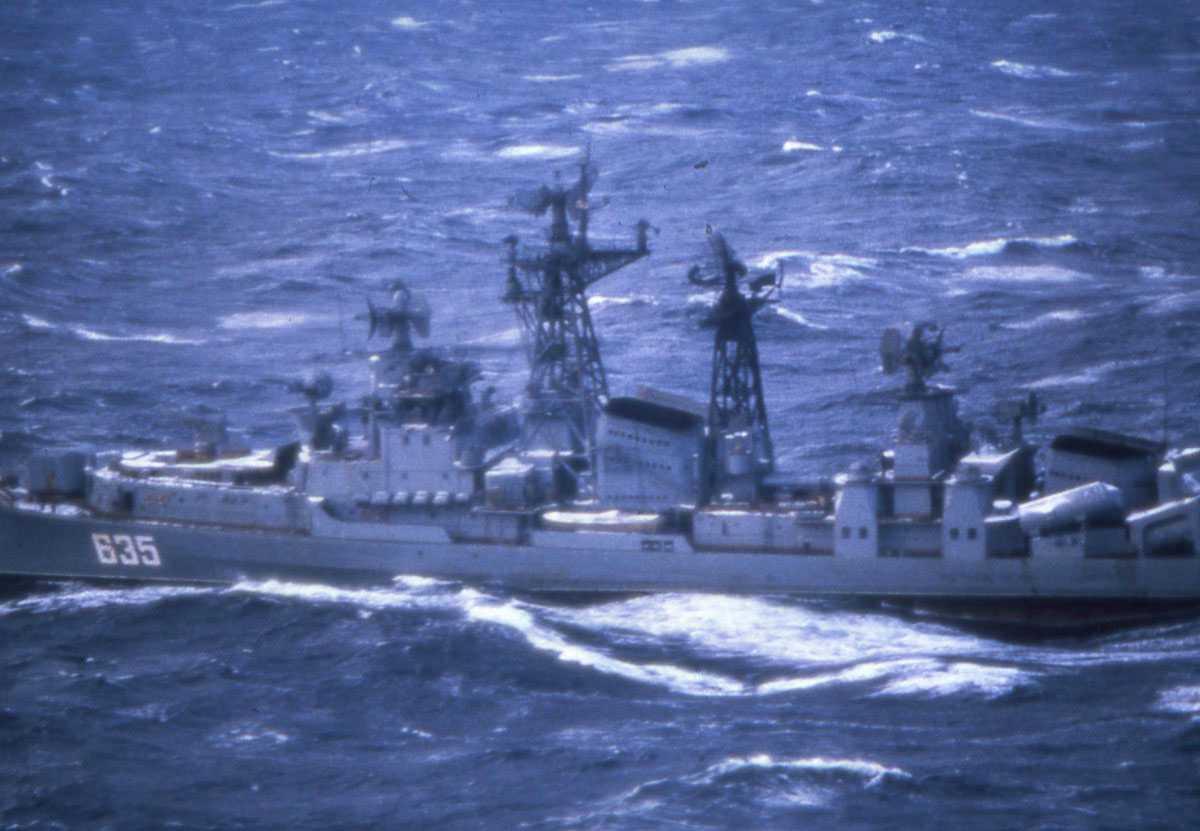 Russisk fartøy av Modifisert Kashin - klassen med nr. 635.