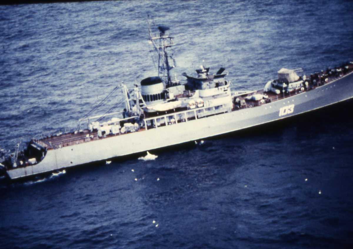 Russisk fartøy av Alesha - klassen med nr. 103.