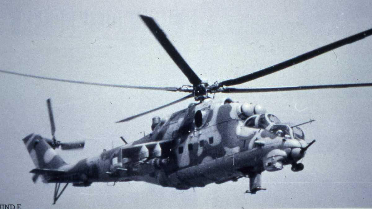 Russisk helikopter av typen Mil Mi-24K Hind G.
