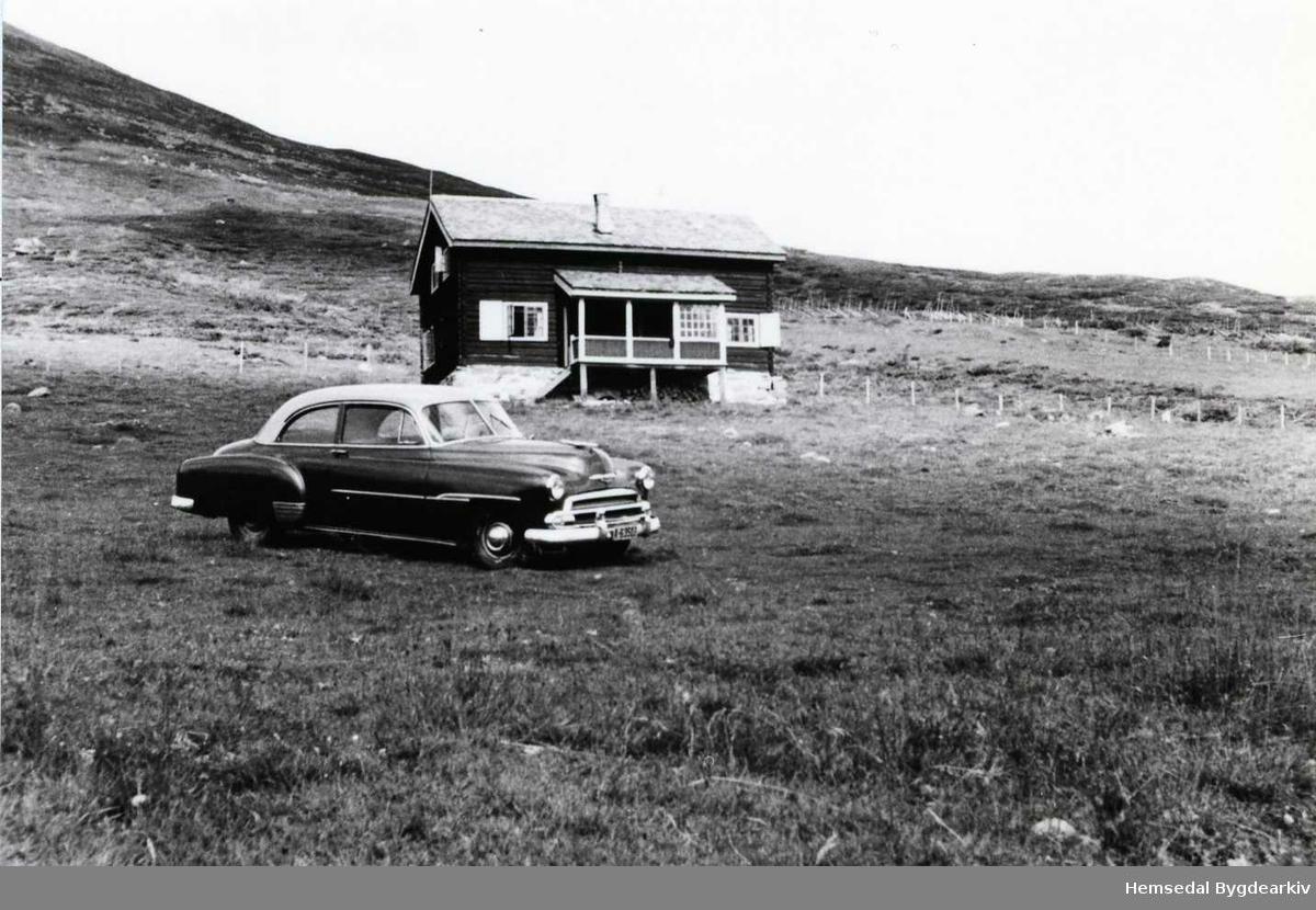 PÅ Jordestølen i Hemsedal, ca. 1955.