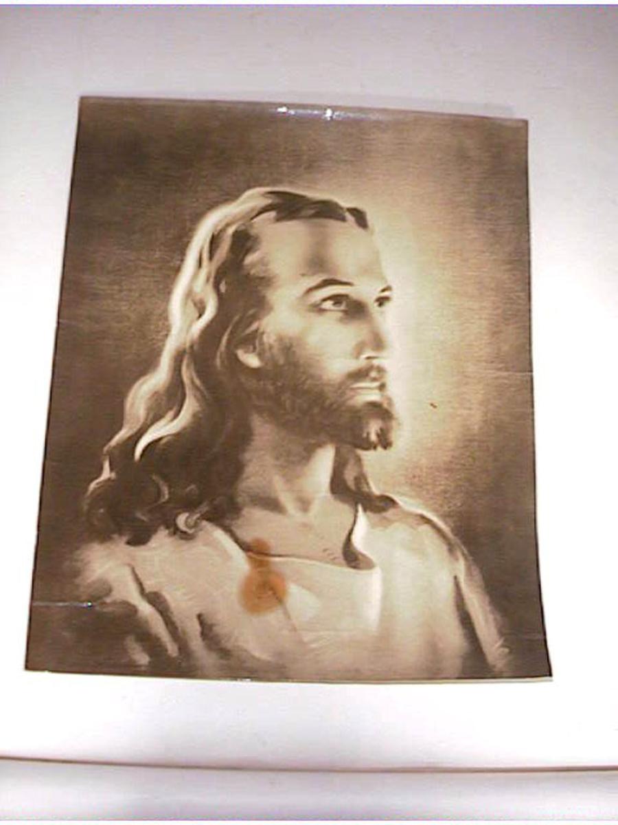 Portrett av jesus som ung mann, foto av tekining.