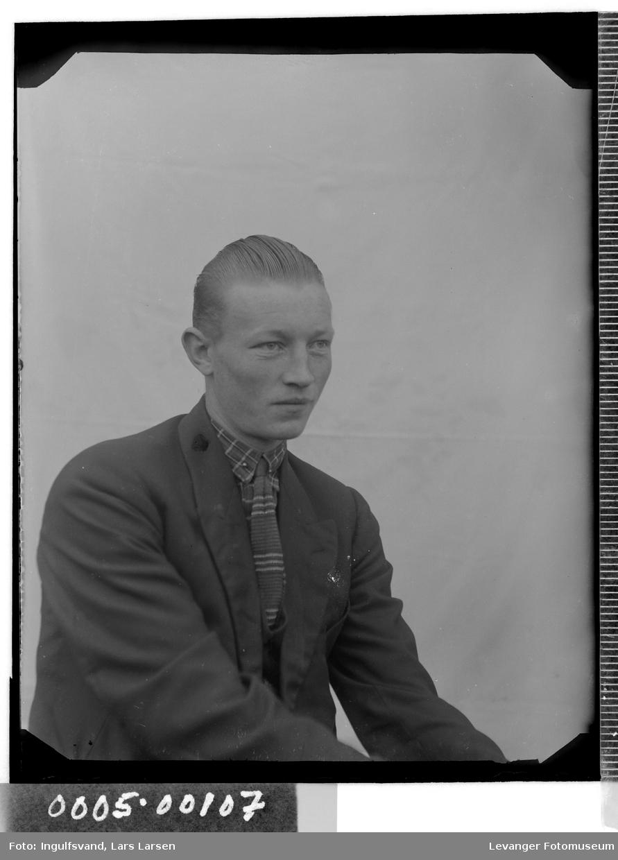 Portrett av mann i halvfigur.
