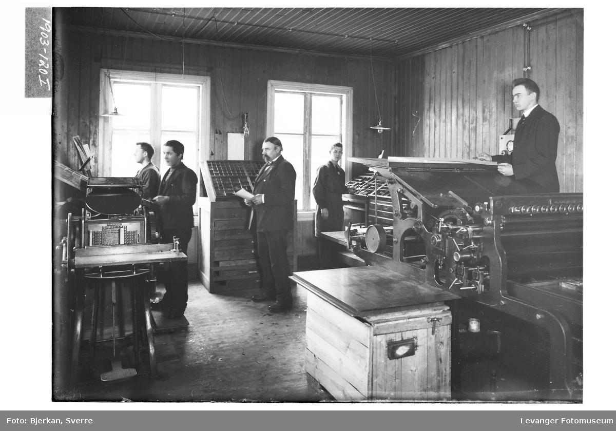 Trykkeriet i Nordre Trondhjems Amtstidene