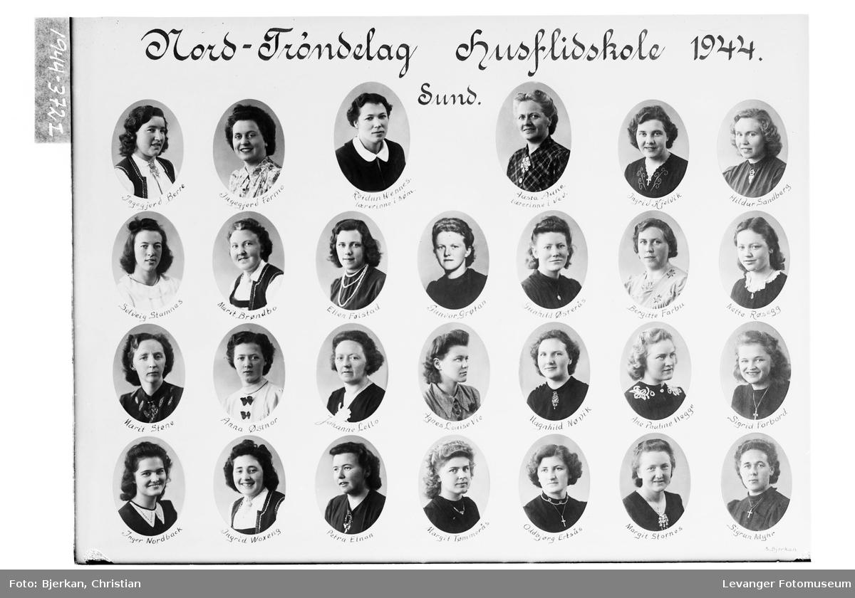 Nord-Trøndelag Husflidskole, Sund i 1944