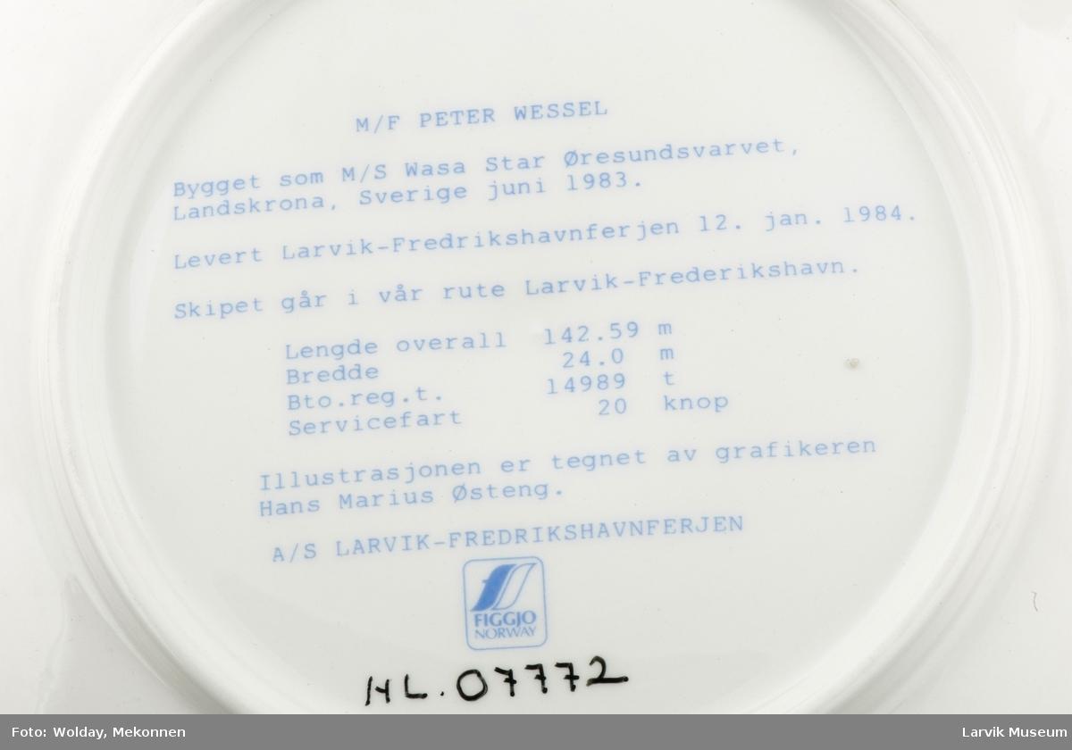 M/F Peter Wessel  1984 Larvik Frederikshavn.