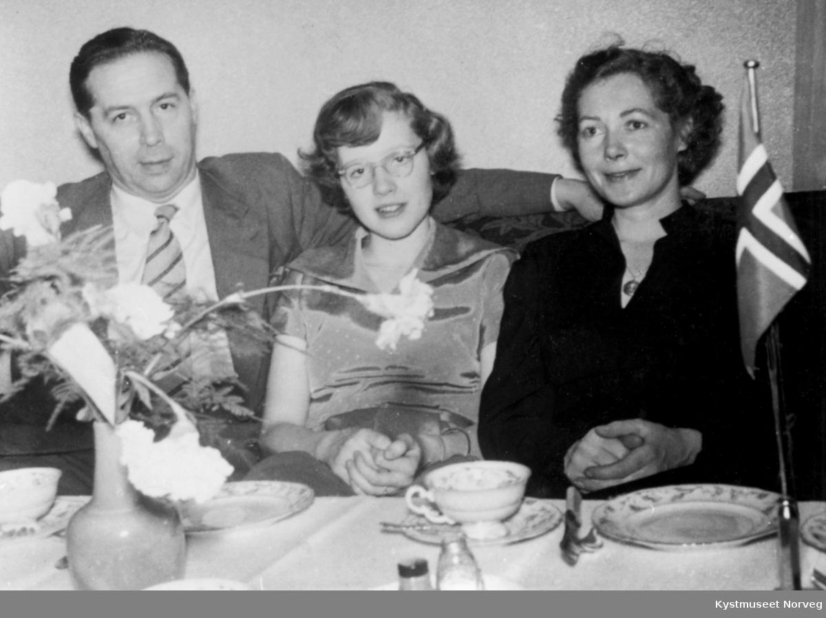 Sverre Lauglo med datteren Randi og kona Edith Haugland Lauglo