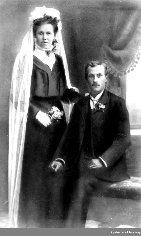 Rolf og Hilda Emilie Sivertsdatter Settenøys brudebilde