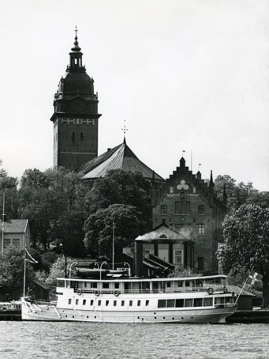 S/S Mariefred vid Strängnäs ångbåtsbrygga, 1960-tal