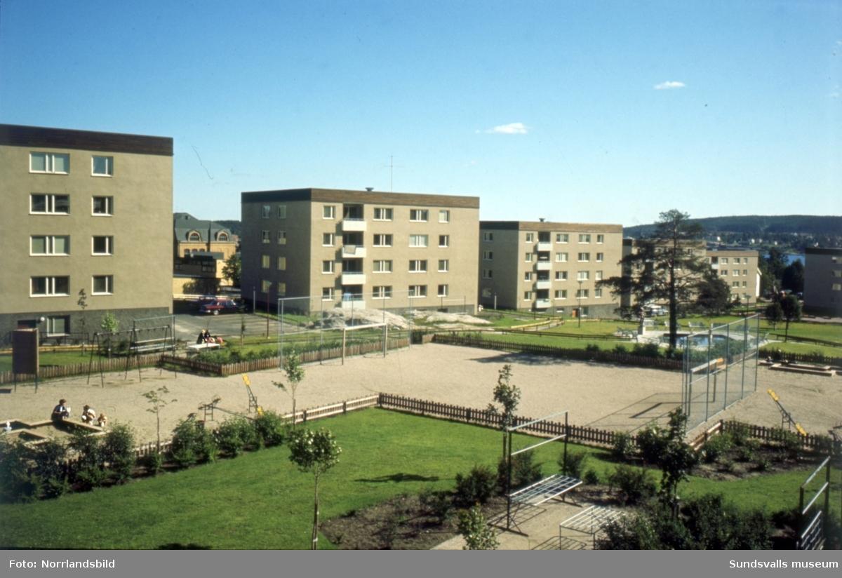 Bostadsområde i Skönsberg, kvarteret Vasa vid Skönsbergsvägen-Medborgargatan-Vasagatan-Bruksgatan.