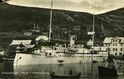 "'Hospitalskibet ""Viking"" i Honningsvaag.'"
