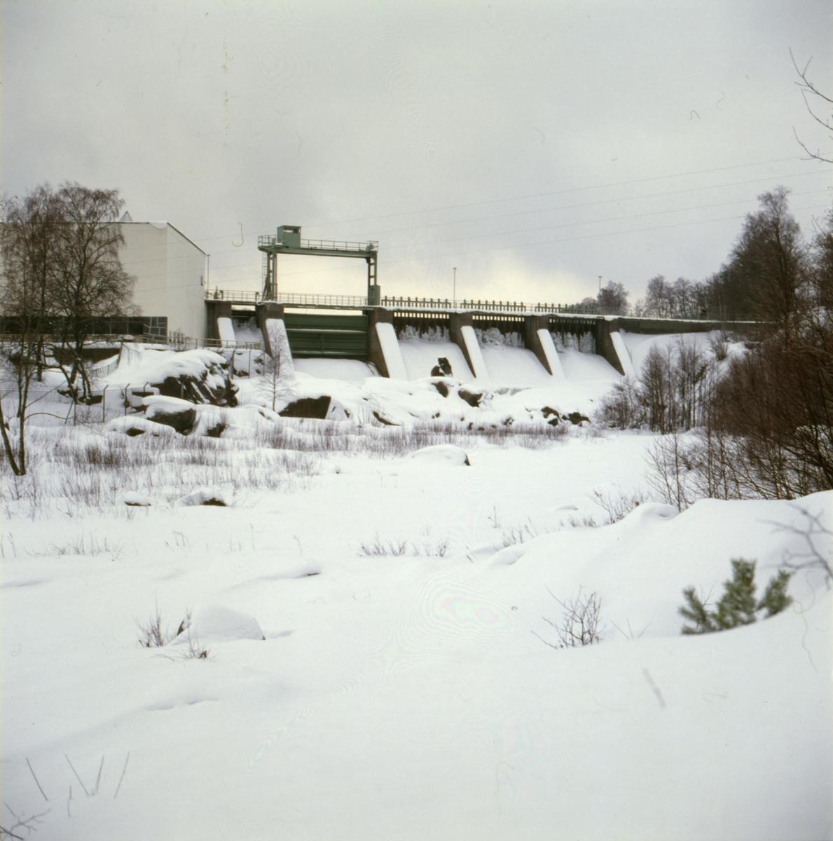 Bällforsens kraftstation vid Ätran, exteriör.