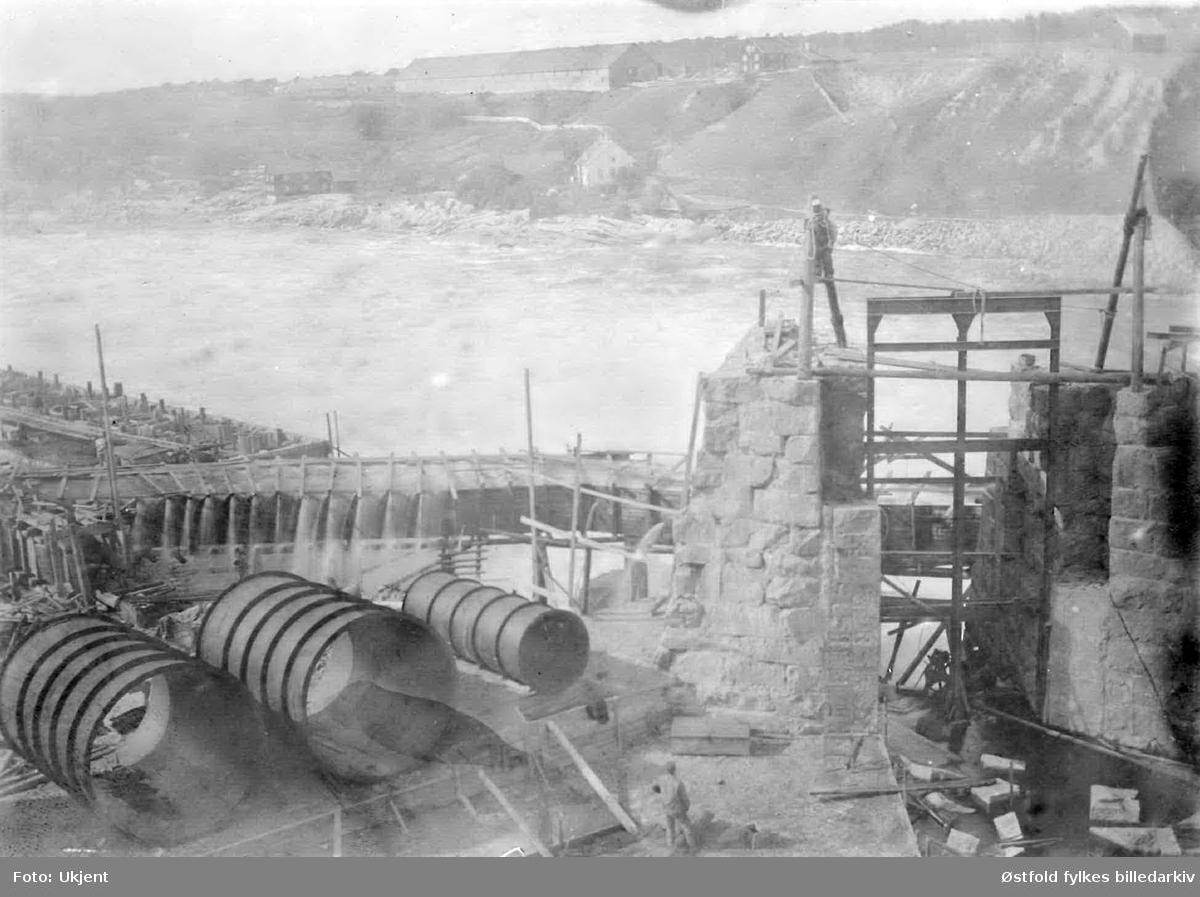 Fra utbygging av Hafslund kraftstasjon, Skjeberg, 1899.