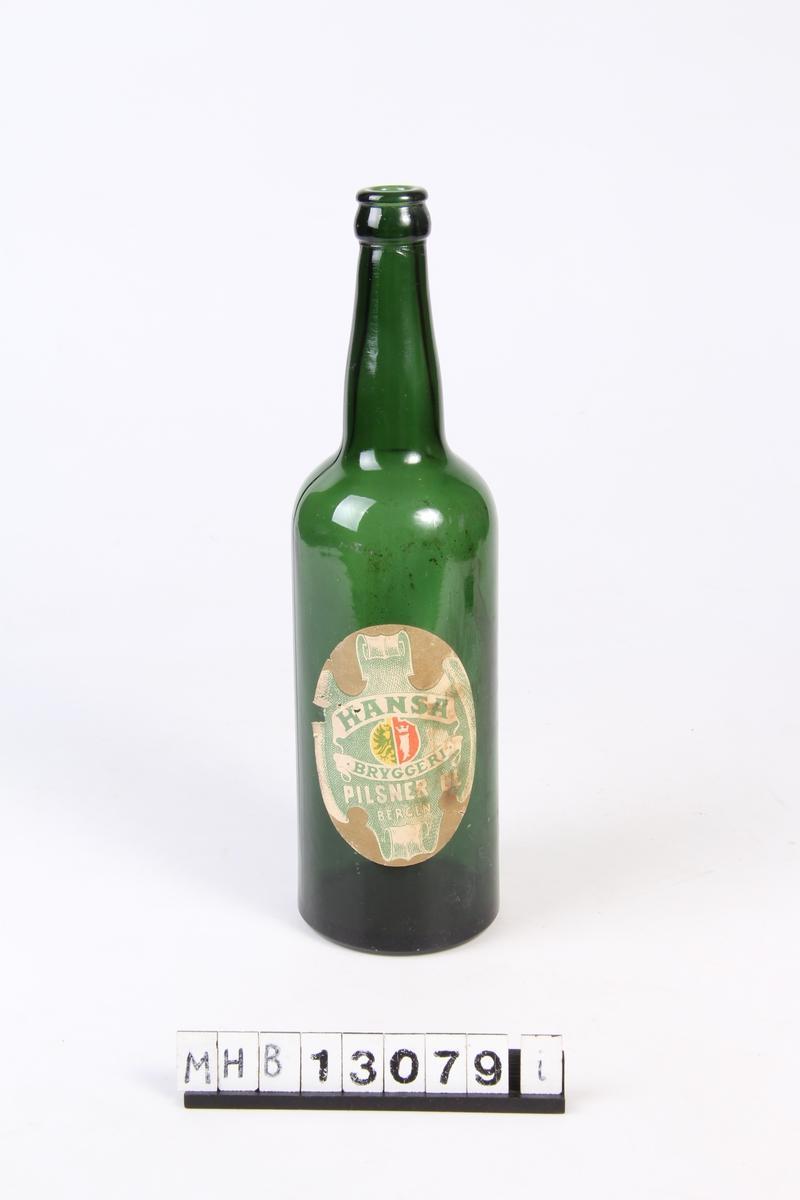 Ølflaske med etikett