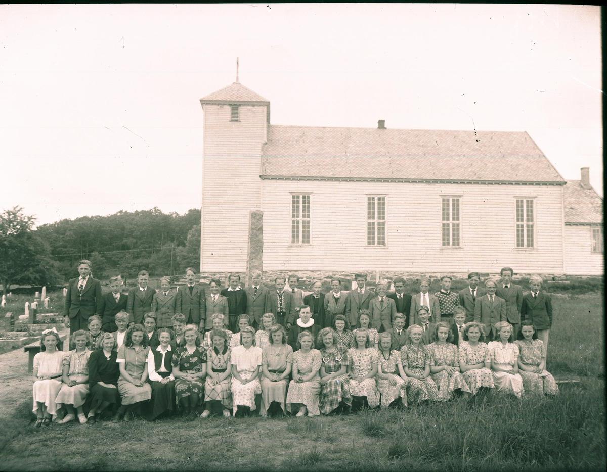 Gruppebilde - Landskap - Kirke