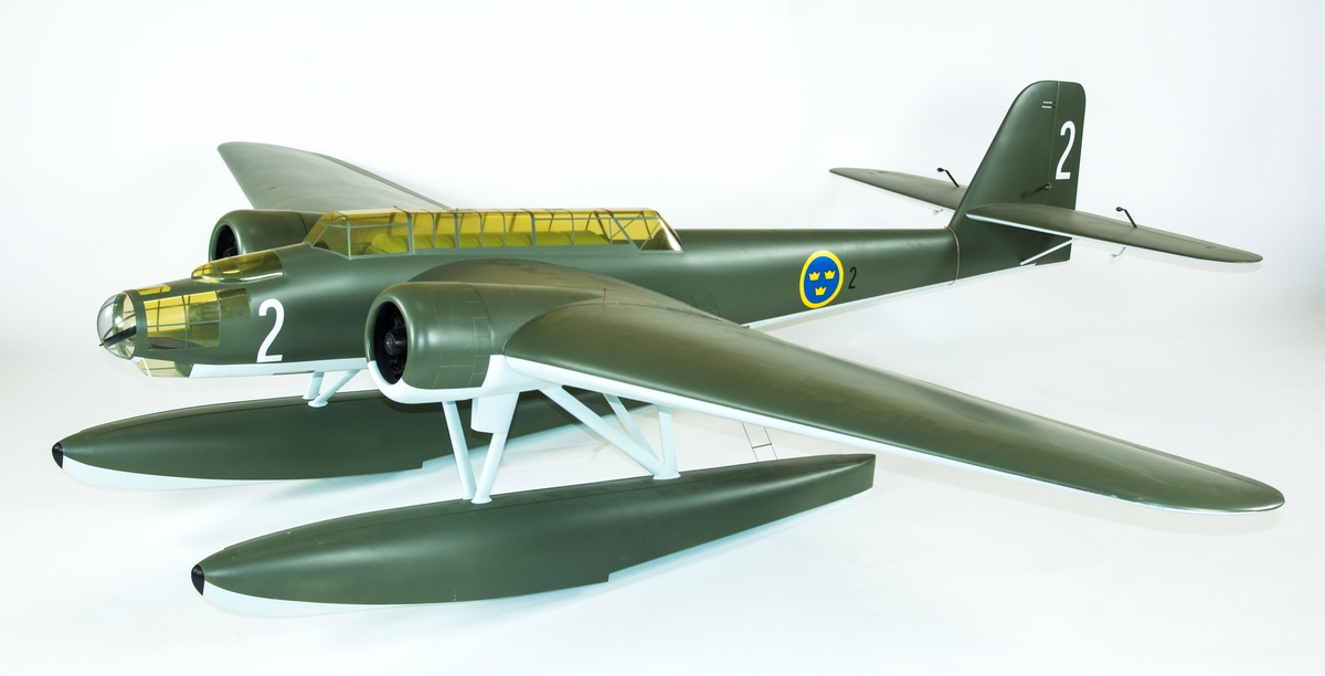 Flygplansmodell av T 2 Heinkel 115. Skala 1:6.