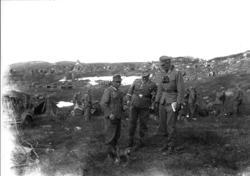 Tyske soldater på øvelse i området ved Sydvarangers anlegg i