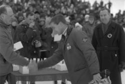 NM på ski i Meldal 1974.  Hopprenn Kløvsteinbakken.