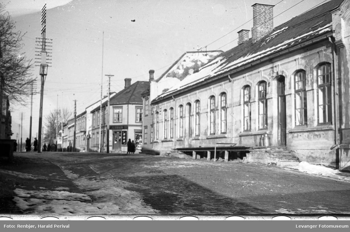 Det gamle Meieriet i Levanger mot Håkon den godes gate.