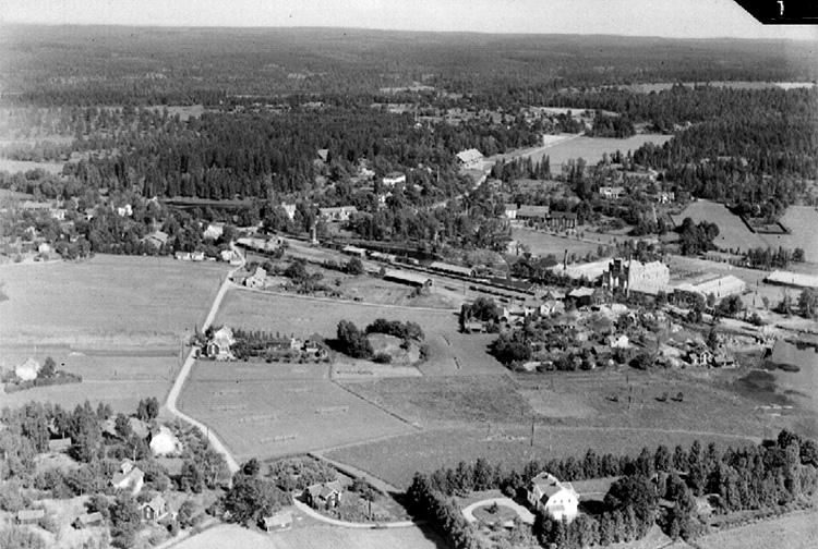 Flygfoto över Åmmeberg.