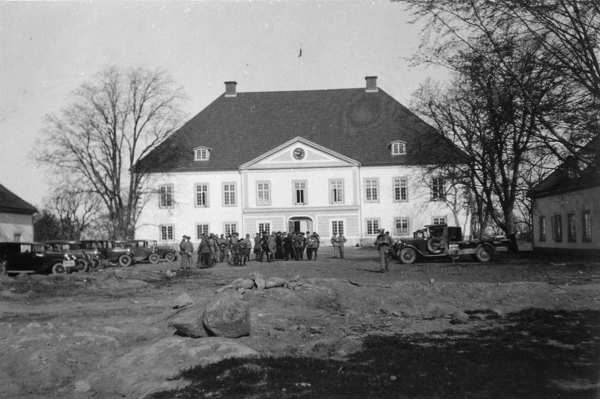 Landstormsövning, Västanå slott
