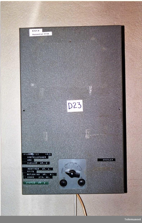 6 lokal nummer 1 bylinjer Tilkoplet 1 stk bordtelefon EB 1967