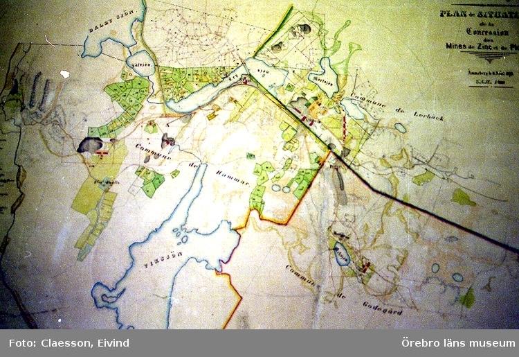 Karta Zinkgruvan.Karta Over Zinkgruvan 1800 Tal Orebro Lans Museum Digitaltmuseum