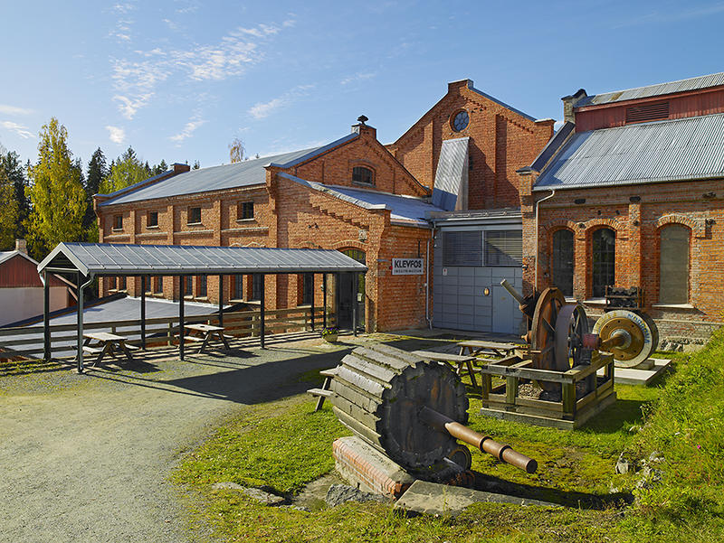Klevfos Cellulose & Paper Mill, one of Norway's smallest paper mills–now an industrial museum.