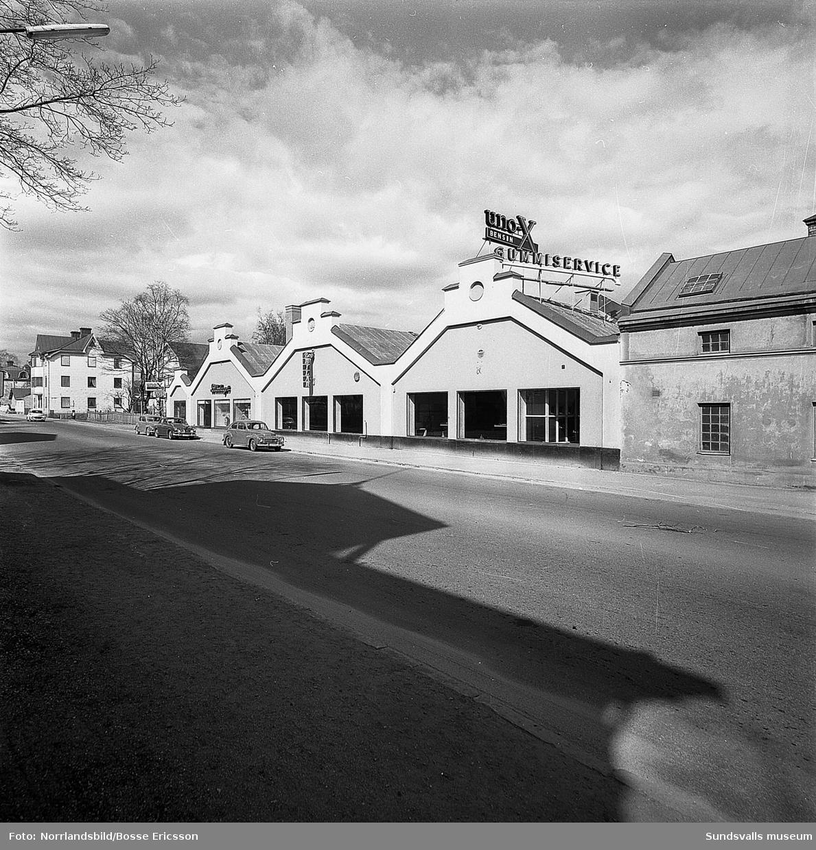 Bilbolagets bilhallar vid Bergsgatan.