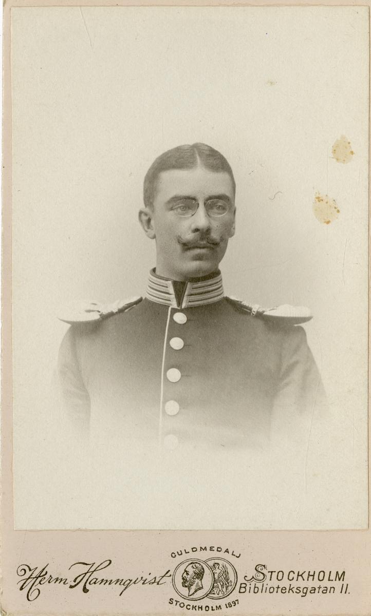 Porträtt av Axel Gustaf von Arbin, officer vid Första livgrenadjärregementet I 4.