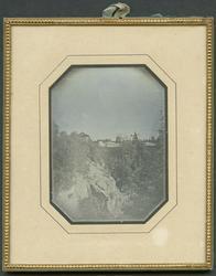 Daguerreotyp. Bilden tagen mot sydost från Sunds schakt vid