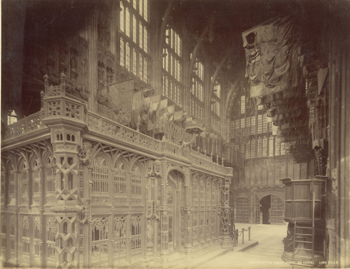 Westminster Abbey, London, 1886. Henry VII:s kapell.