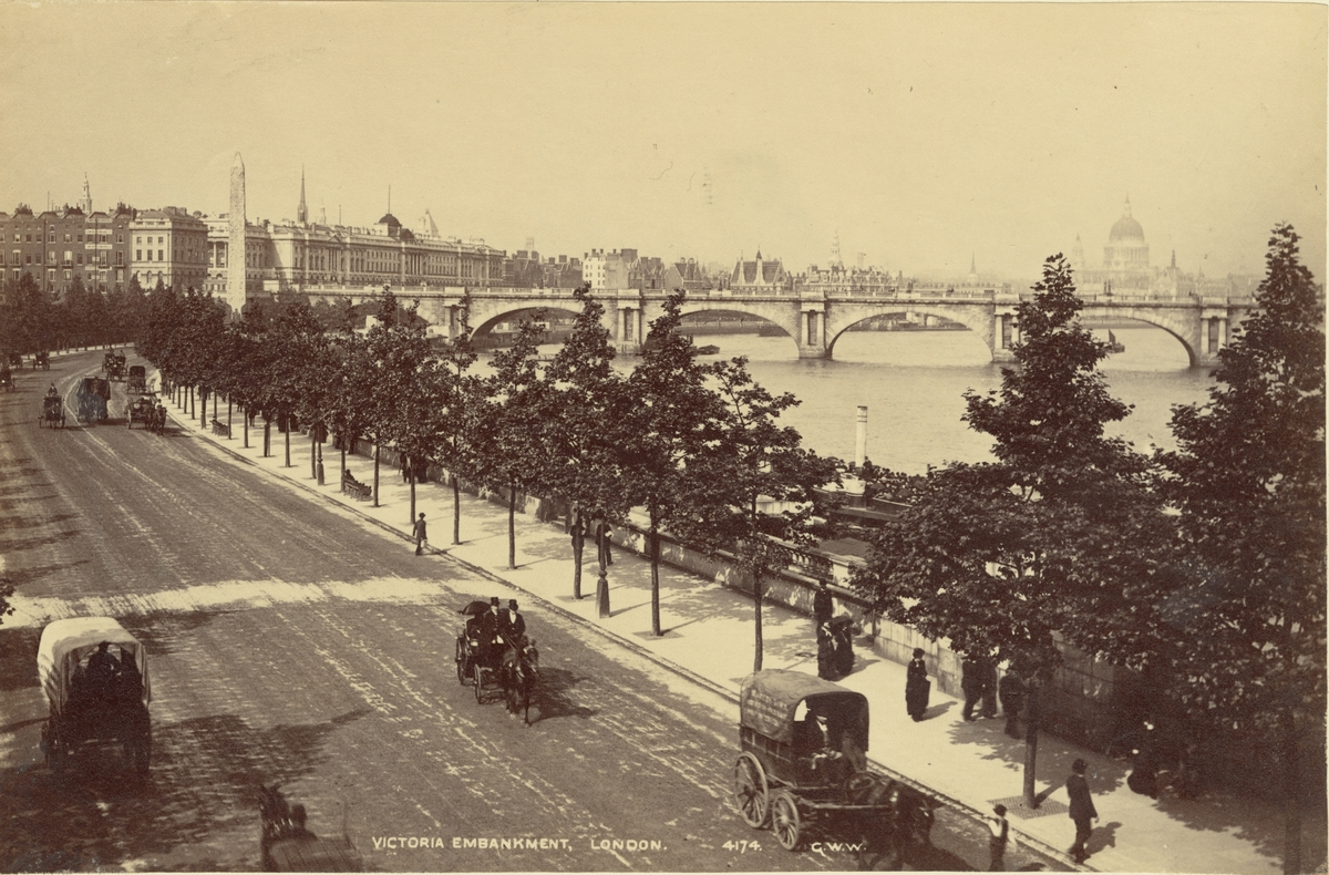 Victoria Embankment, London, 1886.