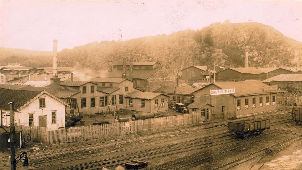 Arbetare vid Uddevalla Gjuteri & Mekaniska Verkstad den 30 januari 1890.