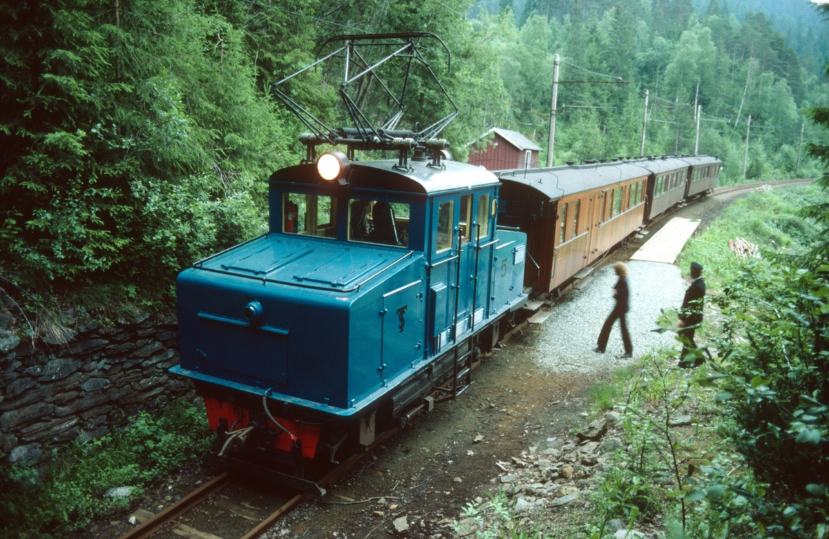Museumstog fra Løkken til Svorkmo på Klinghåmmårn holdeplass. S&T lokomotiv nr. 5.