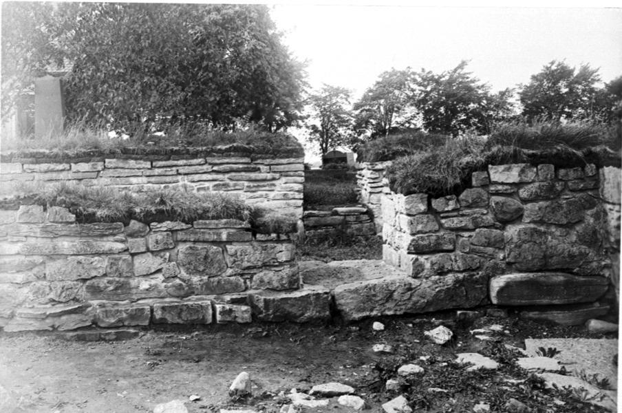 Del av klostermuren.