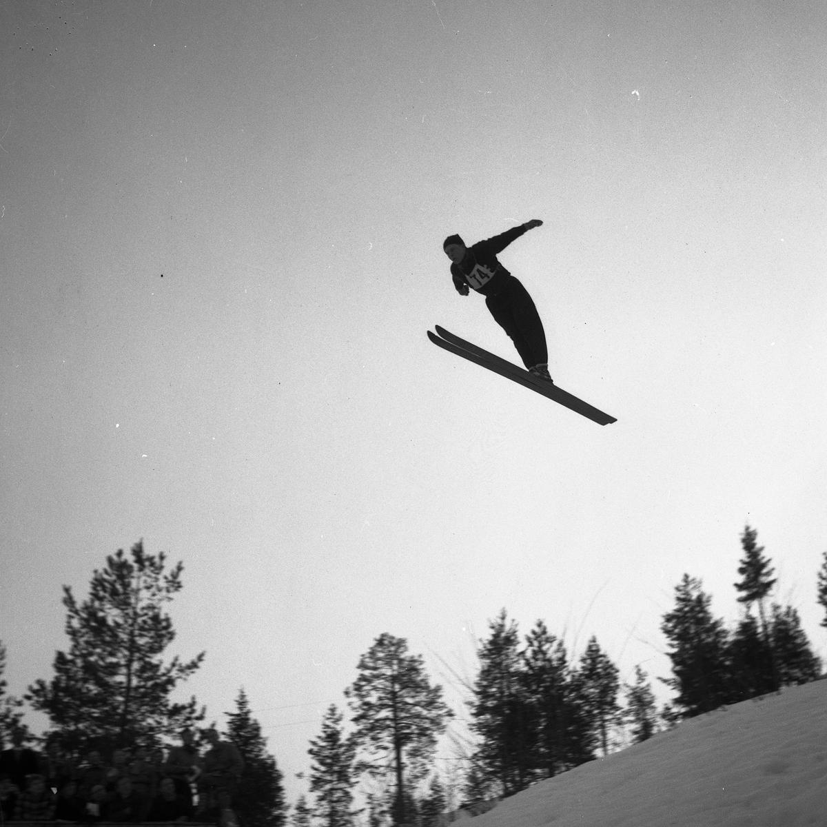 Kongsberg skier Wallø in action