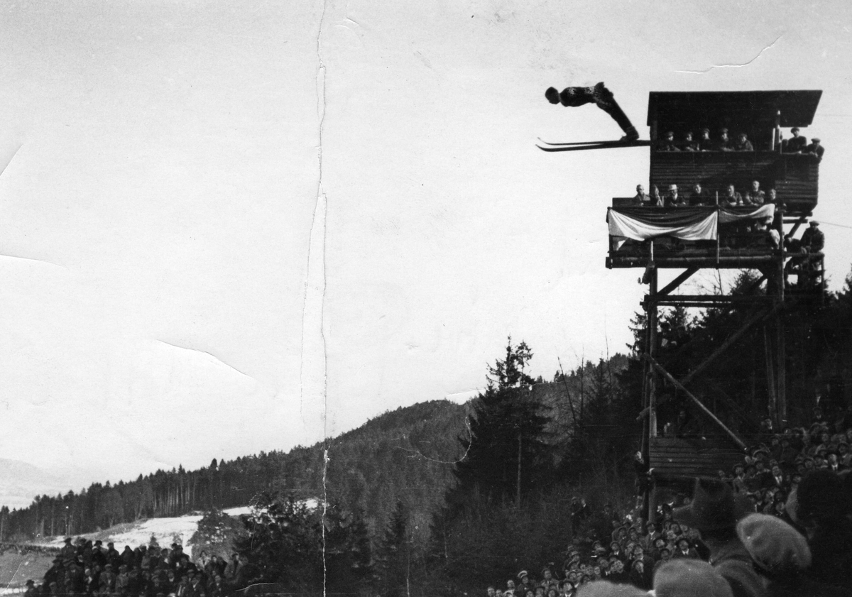 Kongsberg skier Sigmund Ruud during test jump