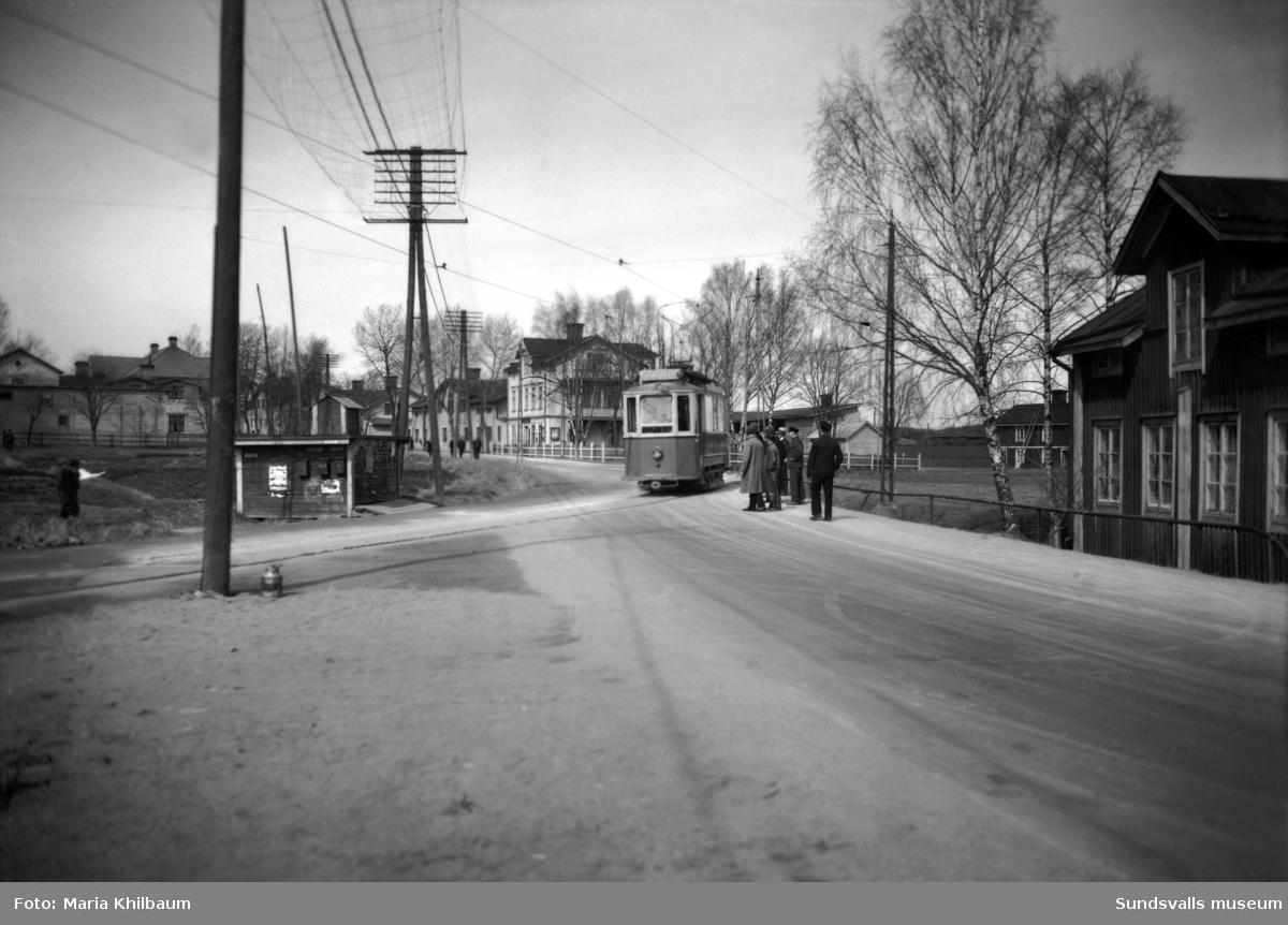 Spårvagn i Skönsmon.
