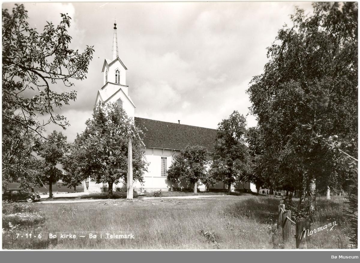 Bø kyrkje - prospektkort