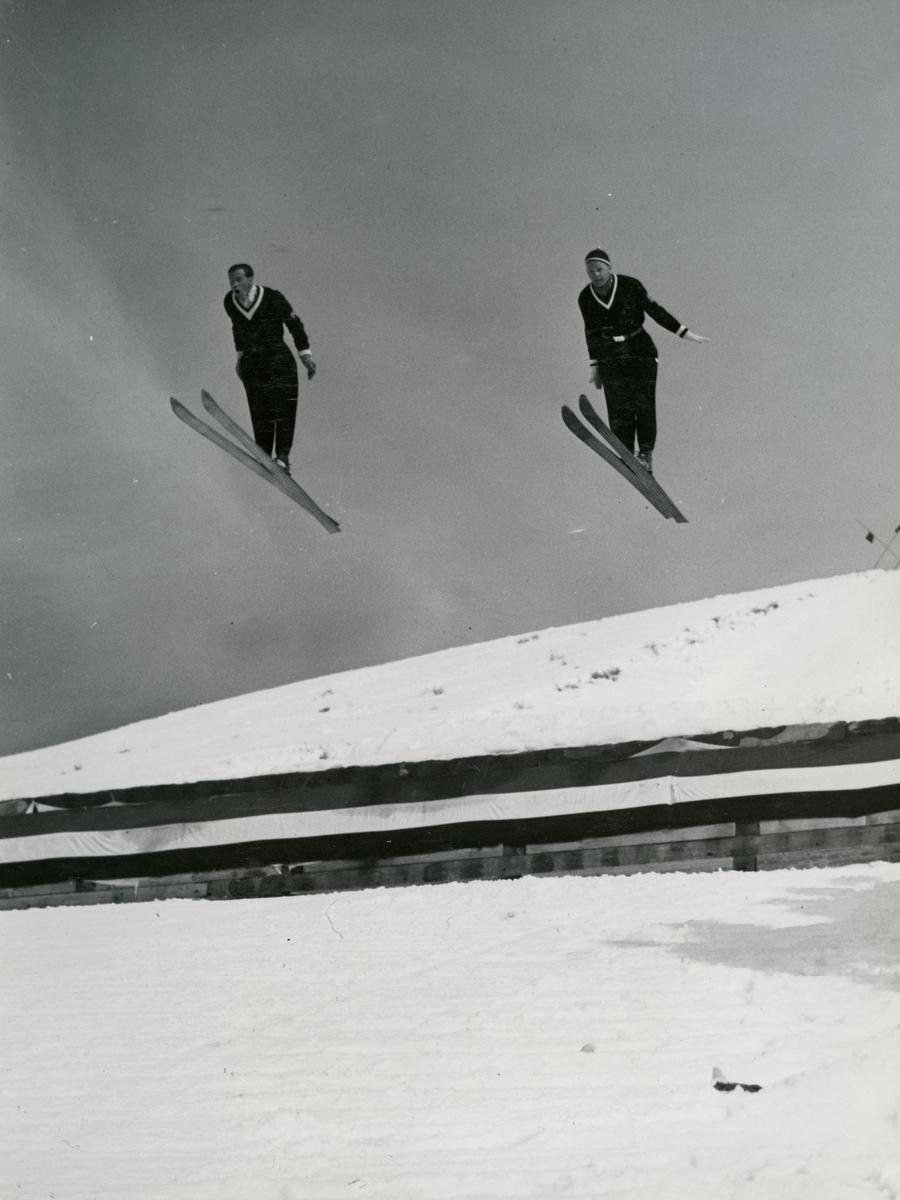 Kongsberg skiers Arne Ulland and Gustav Raaum in Sun Valley, USA