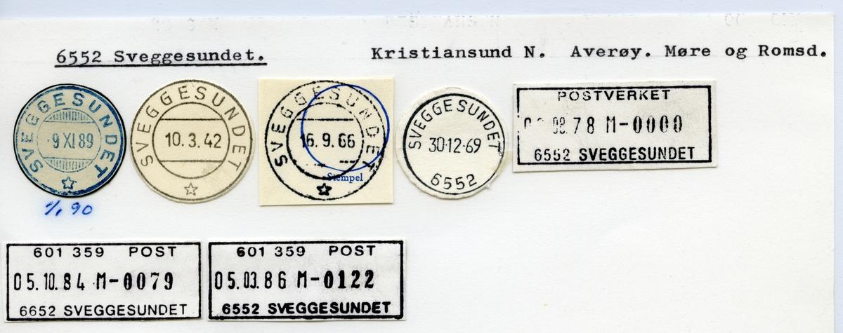 Stempelkatalog  6552 Sveggesundet, Averøy kommune, Møre og Romsdal